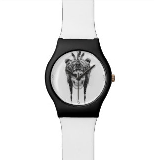 Shaman muerto (b&w) relojes de pulsera