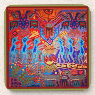 Shaman Ritual Huichol Beverage Coaster