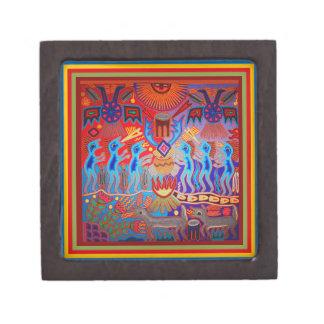 Shaman Ritual Huichol Jewelry Box