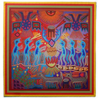 Shaman Ritual Huichol Napkin