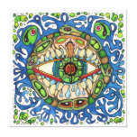 Shaman Spirit:  Blue Frog-Eye Shaman Medicine Canvas Prints