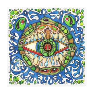 Shaman Spirit:  Blue Frog-Eye Shaman Medicine Canvas Print