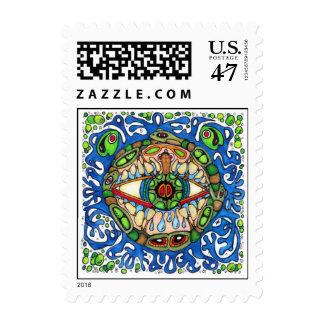 Shaman Spirit:  Blue Frog Eye shaman Medicine Stamp