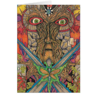 Shaman Spirit - The Green Man Card