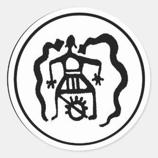 Shaman & the Ancestral Spirit Guides Round Stickers