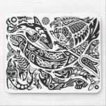 Shaman, Whale & Thunderbird Haida art Mousepads