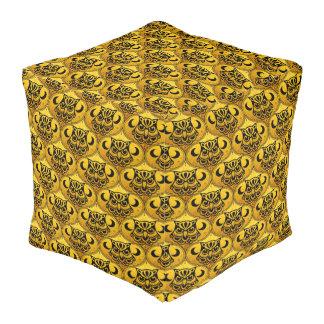 Shamanic Night Owl Mosaic Pattern + your idea Cube Pouf
