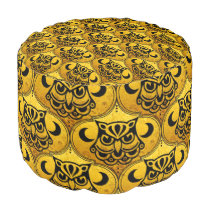 Shamanic Night Owl Mosaic Pattern   your idea Pouf