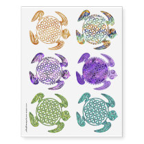 Shamanic Sea Turtle Mix   your ideas Temporary Tattoos