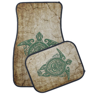 Shamanic Sea Turtle Symbol + your ideas Car Floor Mat