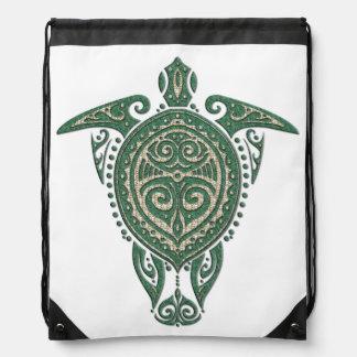 Shamanic Sea Turtle Symbol + your ideas Drawstring Backpack