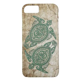 Shamanic Sea Turtle Symbol + your ideas iPhone 7 Case