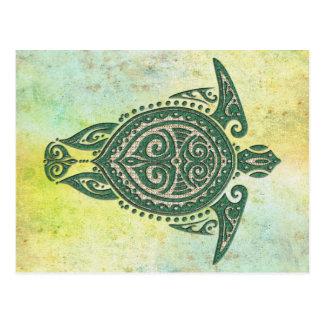 Shamanic Sea Turtle Symbol + your ideas Postcard