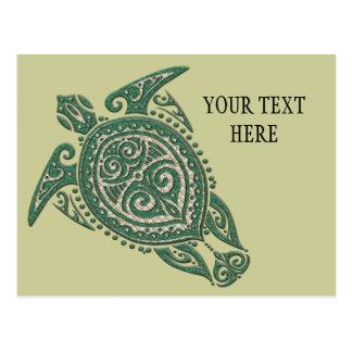 Shamanic Sea Turtle Symbol + your ideas & text Postcard
