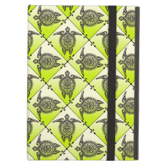 Shamanic Sea Turtles Pattern - green iPad Air Cases