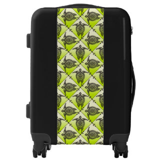 Shamanic Sea Turtles Pattern - green Luggage