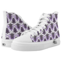 Shamanic Sea Turtles Pattern - violet High-Top Sneakers