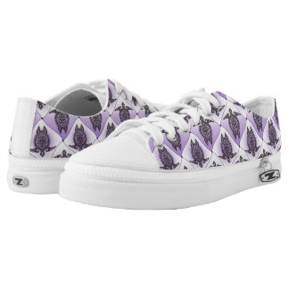 Shamanic Sea Turtles Pattern - violet + your idea Low-Top Sneakers