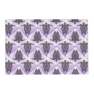Shamanic Sea Turtles Pattern - violet + your idea Placemat