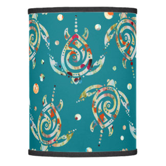 Shamanic Sea Turtles Pattern + your backgr. color Lamp Shade