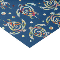 Shamanic Sea Turtles Pattern   your backgr. color Tissue Paper