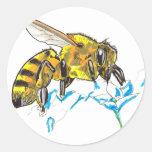 Shamanic Spirit of Bee Classic Round Sticker