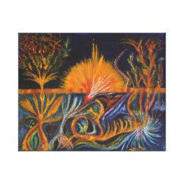 Shamanic Waves - Rage Canvas Print