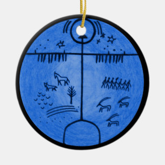 Shamanism Worlds Ceramic Ornament