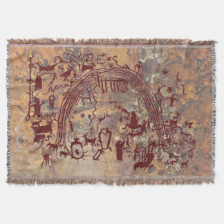 Shamans Panel Throw Blanket