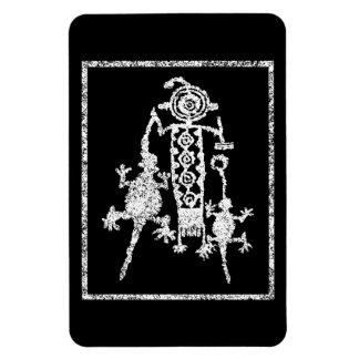 Shamans Quest headdress, mask and spirits Rectangular Photo Magnet