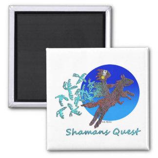 Shamans Quest 2 Inch Square Magnet
