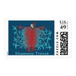 Shamans Trance Postage Stamp