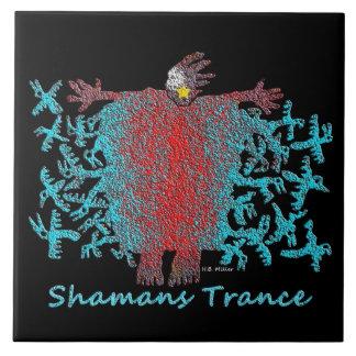 Shamans Trance Large Square Tile