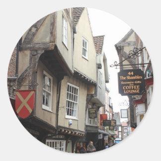 Shambles, York Round Sticker