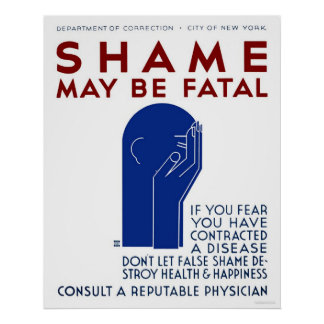 Shame May Be Fatal 1937 WPA Poster