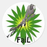 Shame on BP  FaiL Classic Round Sticker