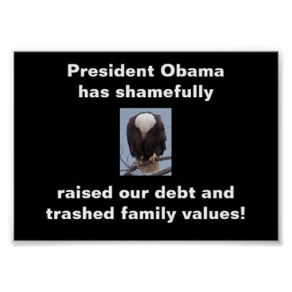 Shame on President Obama  Bald Eagle Photo Poster