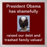 Shame on President Obama Eagle Poster