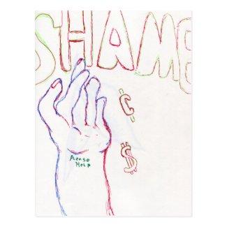 Shame Postcard