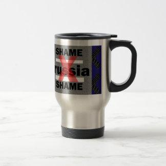 SHAME RUSSIA Dictator Shameful Fear Trouble Insane Mug