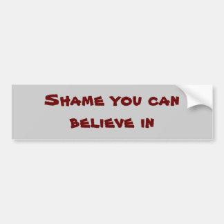 Shame you can believe in car bumper sticker