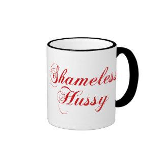Shameless Hussy Ringer Coffee Mug