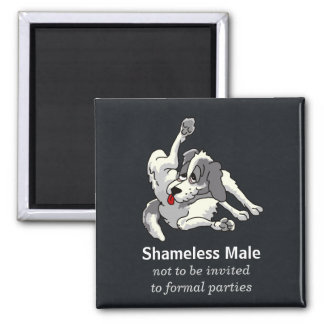 Shameless Male 2 Inch Square Magnet
