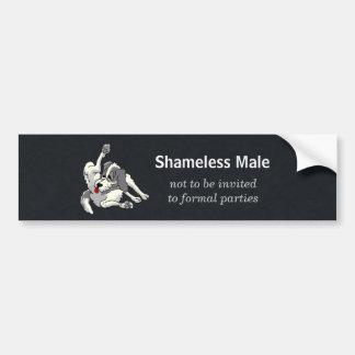 Shameless Male Car Bumper Sticker