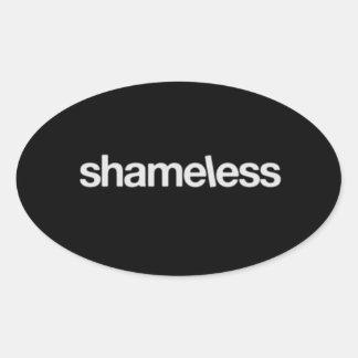 Shameless Oval Stickers