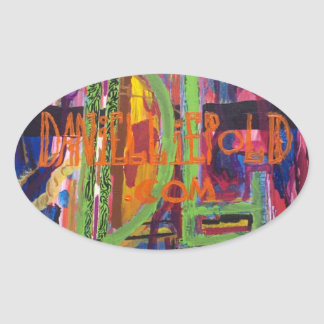 shameless self promotion / original work of art oval sticker
