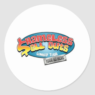 Shameless Sellouts Official Merch Round Stickers