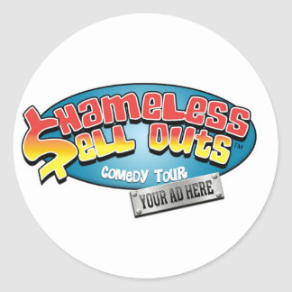 Shameless Sellouts Official Merch Round Sticker