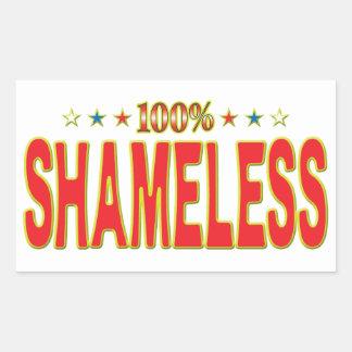 Shameless Star Tag Rectangular Sticker