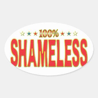 Shameless Star Tag Oval Sticker